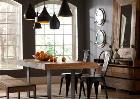eclectic dining room tables industrial dining room industrial dining room dallas