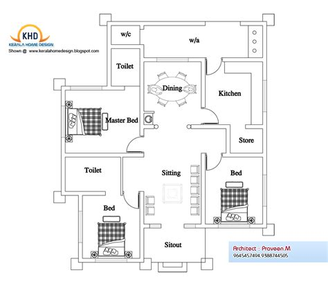 single house floor plan kerala house single floor plans with elevations this