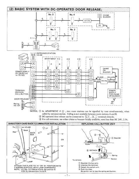 aiphone intercom system wiring diagram efcaviation
