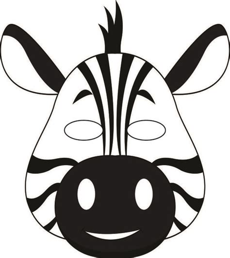 jungle animal mask templates zebra craft template zebra mask template library