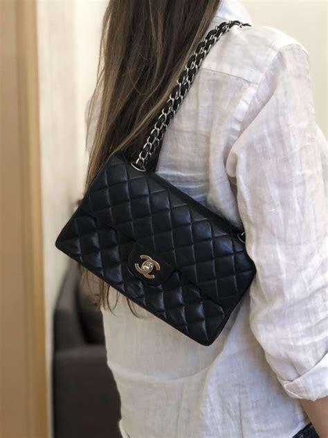 chanel small classic flap bag lambskin noir luxury bags