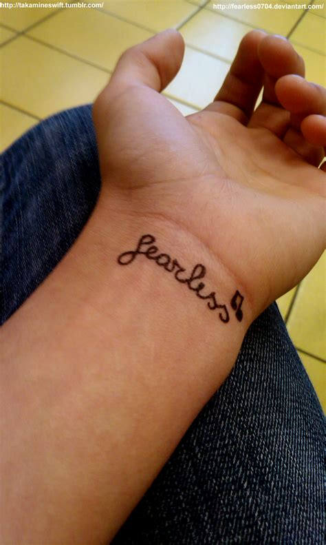 fearless wrist tattoo fearless tatoo by fearless0704 on deviantart