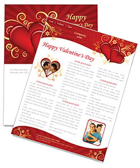 valentines day card template publisher valentines day newsletter template design id 0000000875