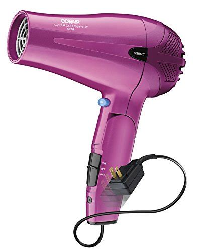 Conair 1875 Hair Dryer Pink conair 1875 watt cord keeper 2 in 1 styler hair dryer