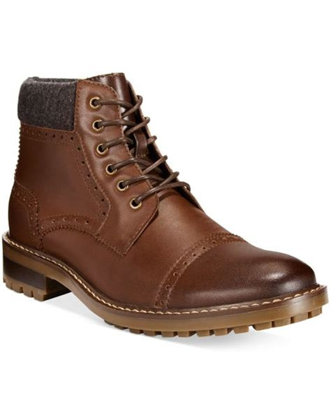alfani grant cap toe boots only at macy s in brown for