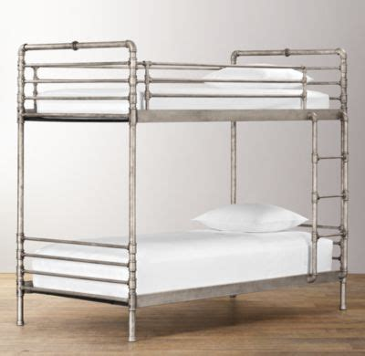 Restoration Hardware Bunk Bed Via Bklyn Contessa Steel Pipe Bunk Bed Restoration Hardware Kid Spaces Pinterest