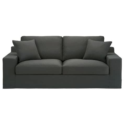 cotton sofas 3 seater cotton sofa bed in slate grey stuart maisons du