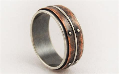 unique mens wedding ring engagement ring silver