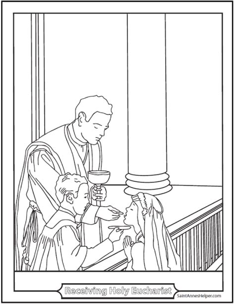 coloring page eucharist holy eucharist coloring page for the sacrament