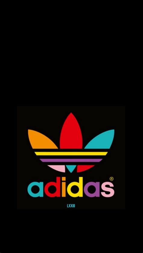 colorful adidas colorful adidas on black wallpaper black wallpapers