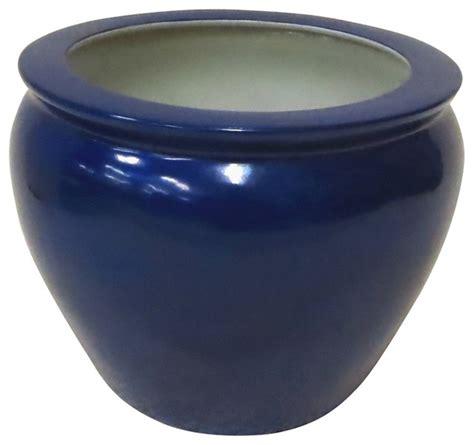 shop houzz private potters cobalt blue porcelain fish