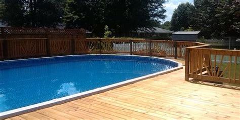 ground pool decks  ground pool deck plans