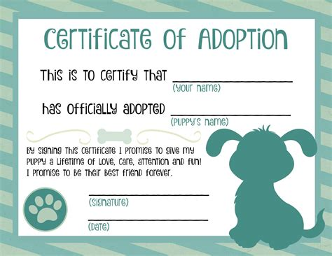 blank adoption certificate template blank adoption certificate filename town ken more