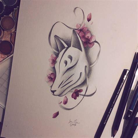 cool japanese tattoos traditional japanese kitsune mask drawing pinte