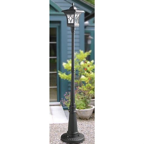 solar led outdoor l post solar light l post outdoor 1 68m solar powered l