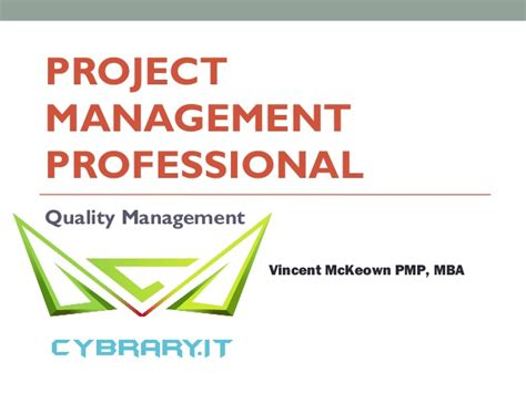 Mba Quality Management by Pmp Module 5 Quality