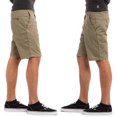 Chino Volcom 33 volcom frozen regular chino shorts khaki buy at skatedeluxe