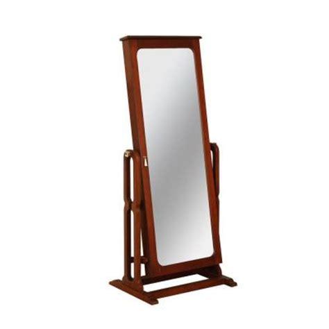 long mirror jewelry armoire powell marquis cherry cheval jewelry wardrobe 508 551