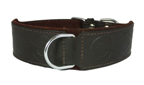 cheap collars wholesale brown retro design leather staffy staffordshire bull terrier collar bulldog