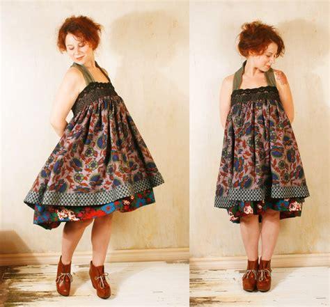 Ririanti Batik Layer Mini Dress patchwork dress babydoll dress bohemian dress fall