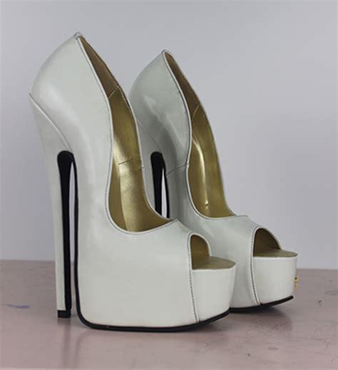 genuine leather high heel 8 quot heel about 5cm