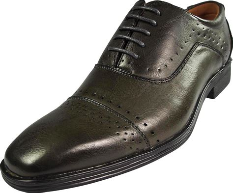 via farinella mens dukan genuine leather insole cap toe