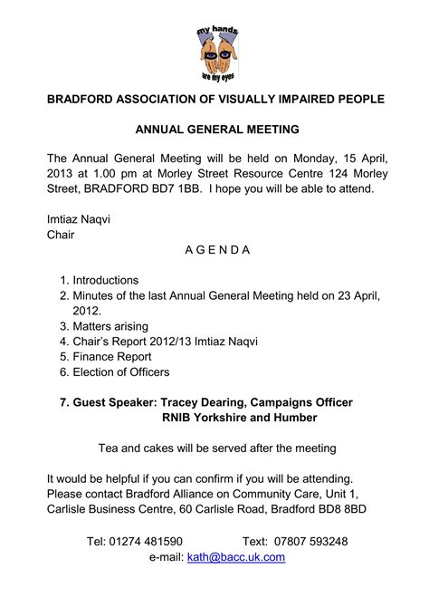 monday 15th april bavip s annual general meeting