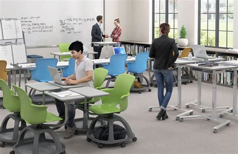 Sit To Stand Desks Debut At Edspaces 2017 Haskell Haskell Office Furniture