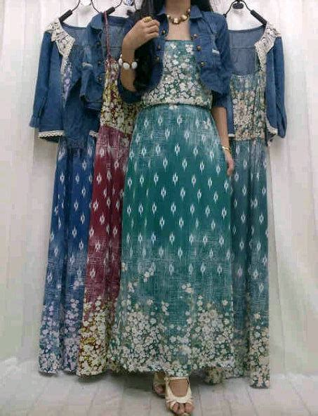 Baju Flowery baju flowery dress nooz 18568 with kardi denim limited