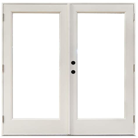 Masterpiece Patio Door masterpiece 71 1 4 in x 79 1 2 in fiberglass white right outswing hinged patio door