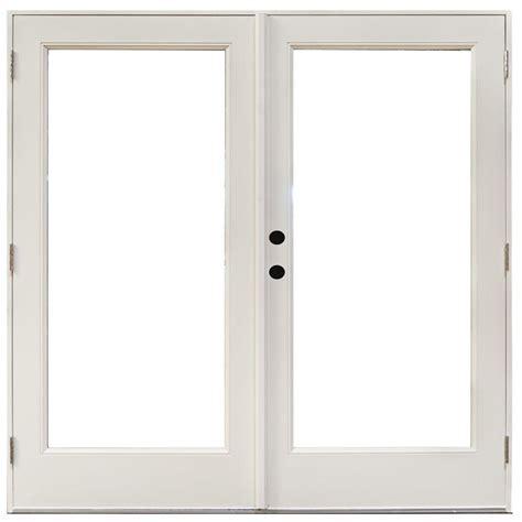 Masterpiece Patio Doors Masterpiece 71 1 4 In X 79 1 2 In Fiberglass White Right Outswing Hinged Patio Door