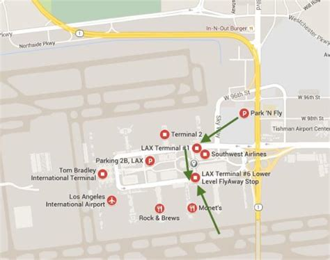 map of los angeles hotels lax terminal map picture of crowne plaza los angeles