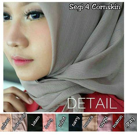 segi empat cornskin sentral grosir jilbab kerudung i supplier jilbab i retail grosir
