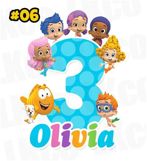 bubble guppies printable iron on bubble guppies iron on transfer blue dots luvibeekidsco