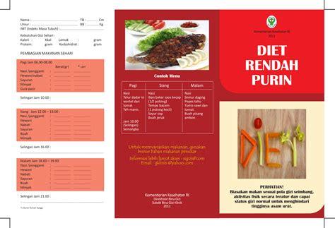 brosur diet rendah purin