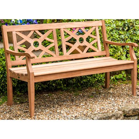 5ft garden bench alexander rose heritage mahogany 5ft garden bench