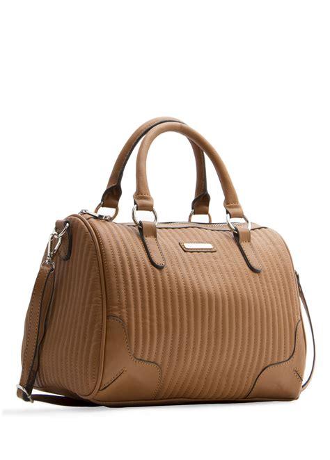 Mango Bowling Bag S mango bowling bag in brown lyst