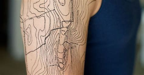 tattoo body contour topographic map tattoo my body pinterest tattoos