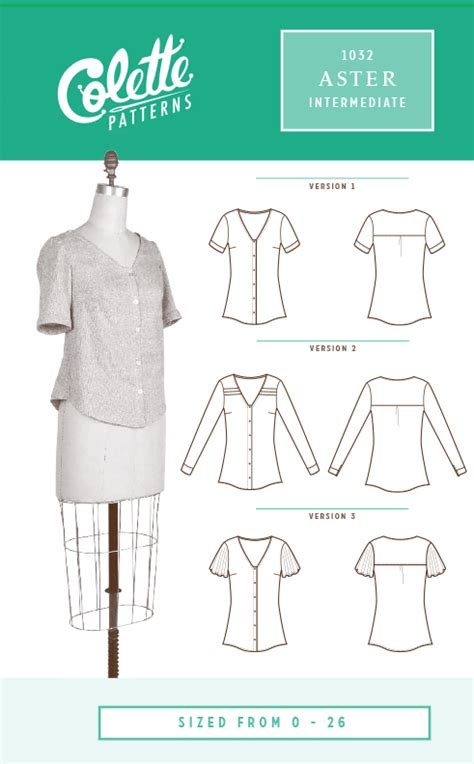 colette pattern aster review aster blouse from colette patterns now in stock the