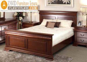 tempat tidur semarang minimalis kayu jati modern zavid