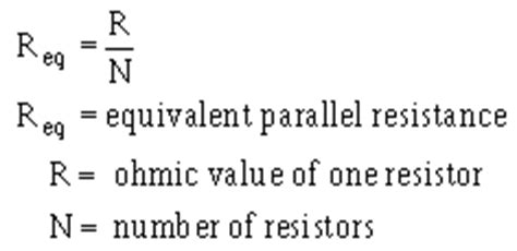 valid resistor values resistance in a parallel circuit