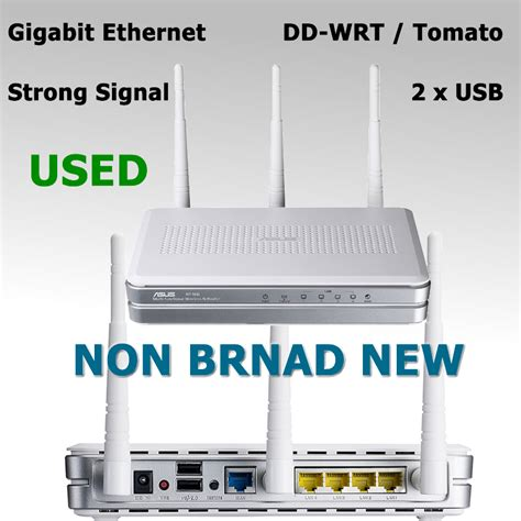 Router Asus 3 Antena used 300mbps wireless wifi router gigabit ethernet 3 6dbi