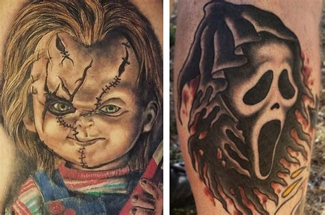 horror movie tattoo 37 horror tattoos that ll give you nightmares