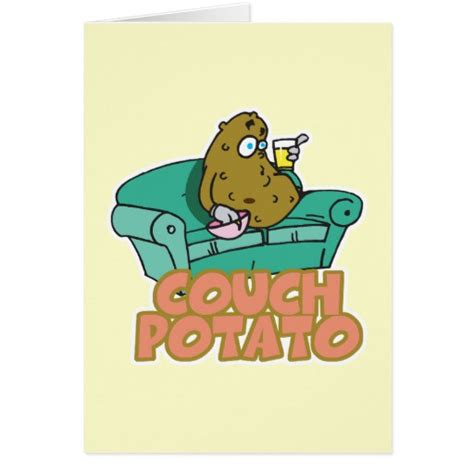 couch potato funny funny couch potato greeting cards zazzle