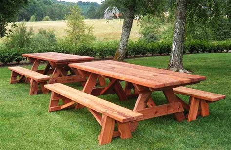redwood picnic table object moved
