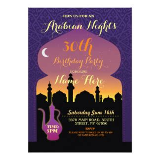 Arabian Nights Invitations Announcements Zazzle Nights Invitation Template