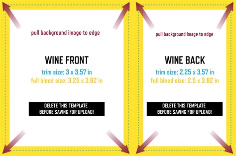 wine label design template grogtag