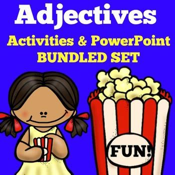 adjectives activities adjectives grade by green