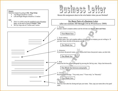 8 parts of business letter the best letter sle