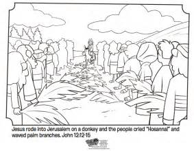 coloring page of jesus on palm sunday image